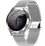 CNZZY KW10 Reloj inteligente para mujer, IP68, resistente al agua, podómetro, con pulsación de sangre y ritmo cardíaco, reloj inteligente ios Android inteligente Bluetooth pulsera (B)