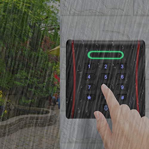 Ong Sistema de Control de Acceso a la Puerta, Sistema de Control de Acceso del Panel de Teclado Inteligente, para familias(125Khz)