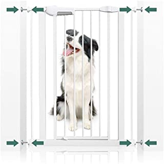 Baby Gates for Stairs Fence Safety Gate Pet Isolation Door Pressure Mount Dual Lock Self Closing