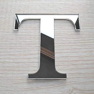 Lettres Miroir Adhésif - Lettre T - Hauteur 10 cm - Initiale Autocollante - Alphabet miroir - Décoration Plexi Miroir - Al...