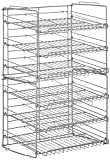 Atlantic Gravity-Fed Compact Double Canrack – Kitchen Organizer, Durable Steel Construction, Stackable or Side-by-Side, PN in Silver