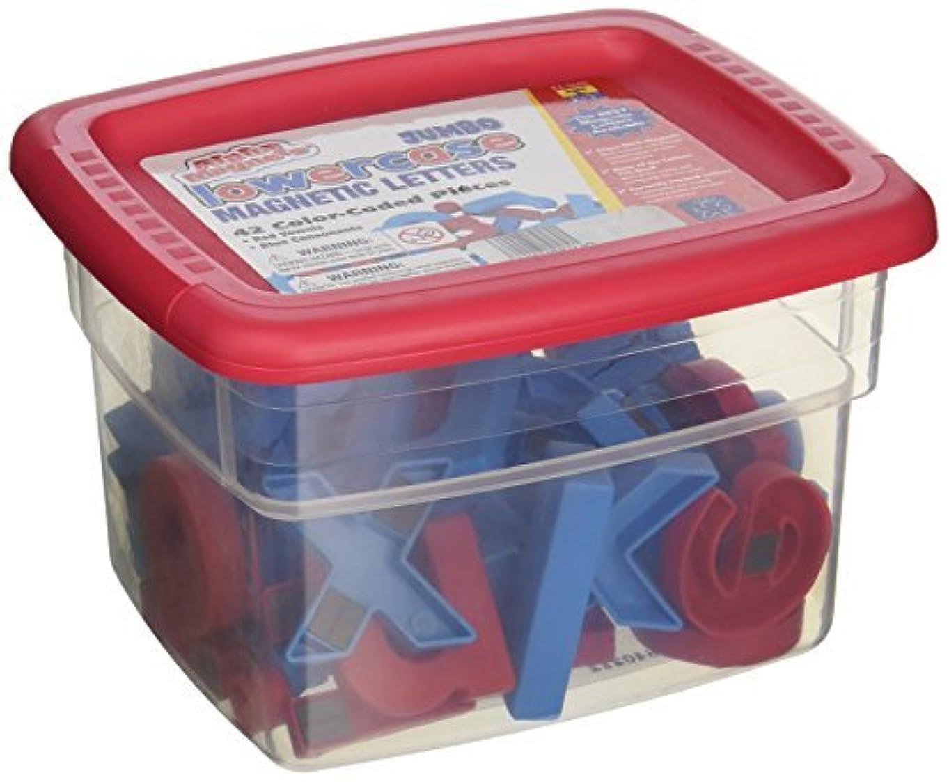 中スペシャリストパイSchool Smart Jumbo Phonetically Color Coded Lowercase Magnetic Letters - 2 1/2 inches - Set of 42 - Blue and Red [並行輸入品]