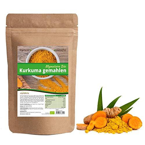 Mynatura Bio Kurkumawurzel gemahlen 1000g I Kurkuma I Pulver I Tee I Kochen I Bio-Lebensmittel I Ökologischer Anbau I Vegan und Vegetarisch | Gewürz | Superfood | (DE-ÖKO-044) (1000g)