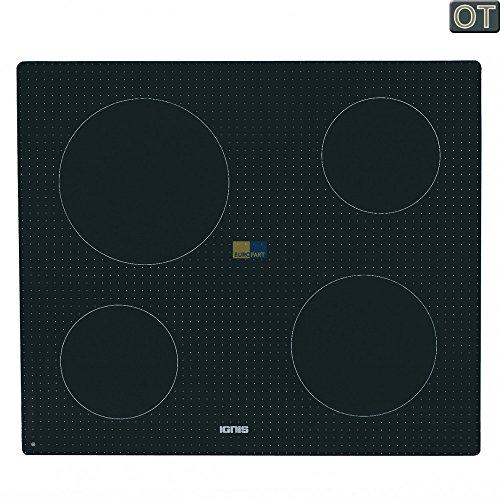 Bauknecht, Whirlpool, IGNIS glasplaat met frame voor keramische kookplaat, kookplaat - nr.: 481010496981