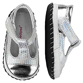 pediped Originals Ruby Crib Shoe  Infant ,Silver,Medium  12-18 Months