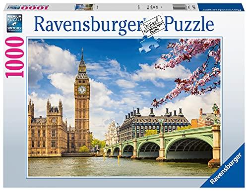 Ravensburger Puzzle, Puzzle 1000 Pezzi, Londra - Big Ben, Puzzle Adulti, Puzzle Londra, Puzzle Ravensburger - Stampa di Alta Qualità, Esclusivo Amazon
