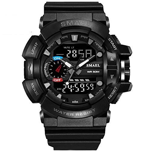 SMAELBand S Shock Sport Reloj para Hombres Reloj Digital Resistente al Agua 30M Reloj Militar del ejército Reloj Masculino,Black