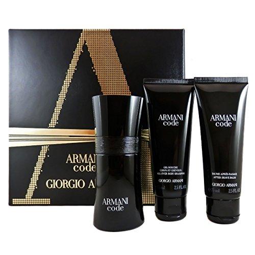 Giorgio Armani Code Homme Geschenkset, 1er Pack (Eau de Toilette 50 ml, Duschgel 75 ml, Aftershave Balsam 75 ml)