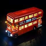 GEAMENT Versión actualizada 10258 Kit de luz para Creator Expert London Bus compatible con LEGO 10258 Building Blocks Model (juego LEGO no incluido)