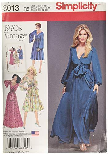 Simplicity 8013r5Schnittmuster Vintage 1970's Kleider Schnittmuster, Papier