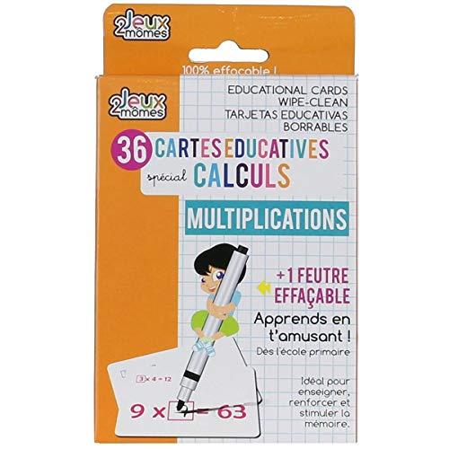 Jeux 2 mômes 36 Cartes éducatives mathématique - Multiplication
