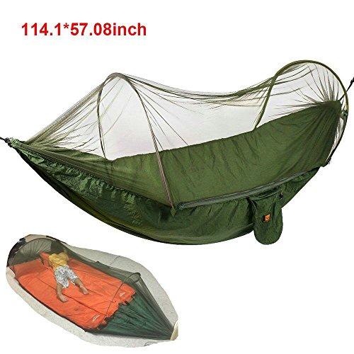 Hamaca camping con mosquitera   Over 440LB (290x145cm)