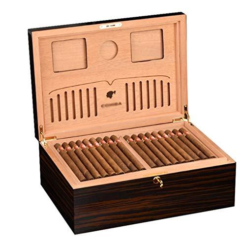 Rangements Boîte à cigares en cèdre 120 humidificateurs à cigares Humidors à cigares Cigares cubains Plateau Creux Équipé d'un humidificateur et d'un hygromètre