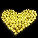Samoleus 12er LED-Kerzen, Wiederaufladbare Kerzen, Batteriebetriebene Flammenlose Kerzen, Kabellose Teelichter, LED-Weihnachtskerzen, Kerzenlichter Mit Ladestation für Außen, Weihnachtsdeko, Hochzeit - 5