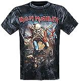 Iron Maiden The Trooper Allover Hombre Camiseta Estampado XXL, 100% algodón, Regular