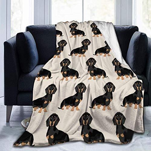 AEMAPE Doxie Dachshund Weiner Perro Mascota Perros Manta Manta de Cama Suave Manta de Franela de Coral Suave Manta de Micro Polar 153X127CM