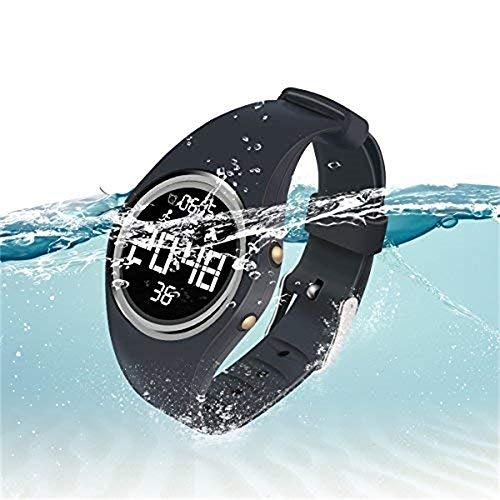 Hootracker Smartwatch Uhr Intelligente Armbanduh IP67 Wasserdicht Fitness Tracker Armband Sport Uhr mit Schrittzähler Schlaftracker Kompatibel mit Android Smartphone-Black