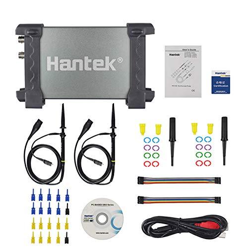 Hantek 6022BL PC USB Osciloscopio 2 Canales Digitales 20MHz Ancho de Banda 48MSa / s Frecuencia de Muestreo 16 Canales Analizador Lógico
