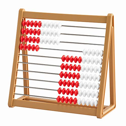 Edx Education  Abacus - In Home Learning Manipulative for Early Math - 10 Row Counting Frame - Teach Counting, Addition and Subtraction