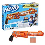 NERF Fortnite 6-SH Dart Blaster -- Camo Pulse Wrap, Hammer Action Priming, 6-Dart Rotating Drum, Includes 6 Official Elite Darts
