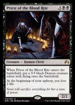 Magic The Gathering - Priest of The Blood Rite (112/272) - Origins