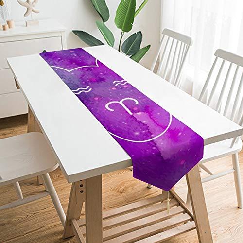 Camino de mesa de 177,8 x 33 cm, Aries, decoración de mesa