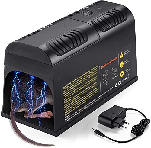 Rattenfalle Elektrisch,Elektronische Rattenfalle,Mäusefalle Elektrischer Mäusekiller Mausefalle Rattenköderstation für für Mäuse Kastenfalle für...
