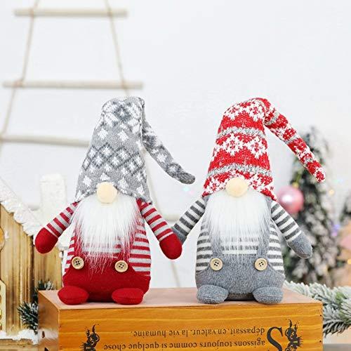 Lbymyb. Handgemachte Schwedische Gnome Spielzeug Santa Doll Gnome Ausziehbare Stehende Figur Spielzeug Holiday Home Party Dekor Plüsch Puppe Ornamente Für Home Tisch Küche Valentinstag Hochzeitsgesche