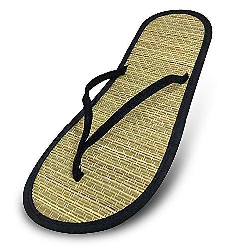 Greetuny Flip Flops Zehentrenner Damen, Sommer Mit Fußbett Flip-Flops Schuhe Damen-Sandalen Eva rutschfeste Sohle,Schwarz,EU 41