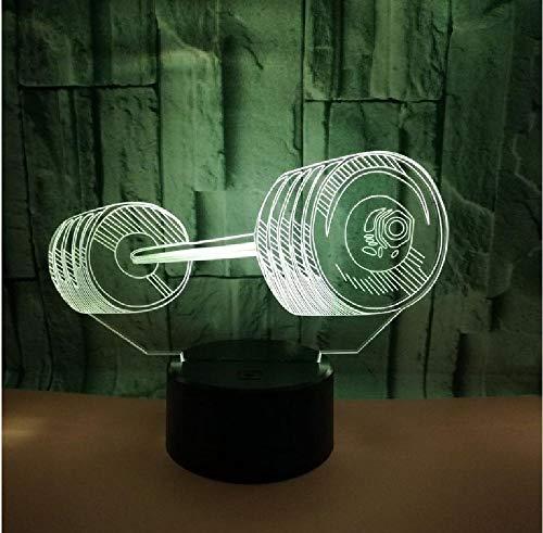 3D gewichtheffen LED nachtlampje kleur verwisselbare tafellamp methacrylaat plaat kinderen nachtlampje remote telefoon Bluetooth control kleur