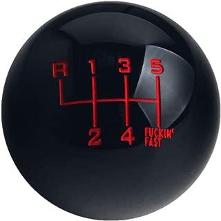 DEWHEL Black/Red Fing Fast Shift Knob for 6 Speed Short Throw Shifter 12X1.25 10X1.5 10X1.25 8X1.25