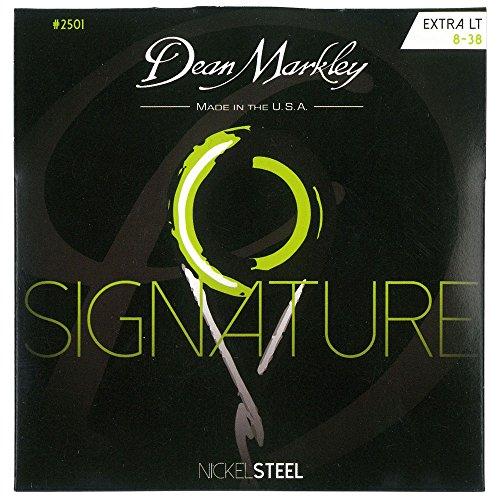Dean Markley 2501B - Juego de cuerdas para guitarra eléctrica de acero de níquel.008 - .038