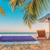 WDNMD Playa Impermeable al Aire Libre de Picnic Cobertura Total portátil Foldabale Sandless colchón de Camping sostenible,Azul,200 x 150 cm