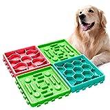 yidenguk Ciotola Cani Mangiare Lento,Dog Lick Pad,Distributore di Cibo Lento, Puzzle Lick Mat Ciotola per Animali da Compagnia e Animali Domestici, Interattiva Pet Lento Slow Food(4PCS)