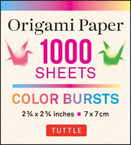 Origami Paper Color Burst 1,000 sheets 2 3/4 in (7 cm): 12 Unique Radial Patterns perfect for Modular Origami - Tuttle Origami Paper: High-Quality ... (Instructions for Origami Crane Included)
