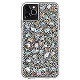 【Case-Mate】 本物の真珠貝 世界に一つだけ 3m落下耐衝撃 スマホケース iPhone 11 Pro Max ハード ケース カバー [ワイヤレス充電対応・ハイブリッド] クリアー 透明 キラキラ カラット マザーオブパール Karat Mother of Pearl