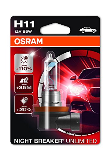 Osram 64211NBU-01B Ampoules H11 55W NIGHT BREAKER UNLIMI, Blister individuel