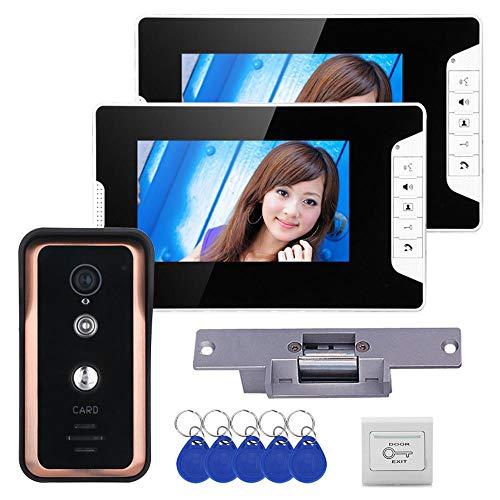 Sistema De Seguridad De Intercomunicación con Timbre De Video con Monitor TFT...