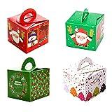 32 cajas de regalo navidad, cajas papel caramelo juego decorativa cajas de dulces,pasteles,galletas,dulces,Cupcakes,Candy y hecho a mano bebé de cajas de regalo para Navidad,cumpleaños,vacaciones