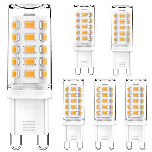 G9 LED Lampen 4W Dimmbar, 2700K Warmweiß, Ersetzt 40W Halogenlampen, 220-240V AC G9 LEDLeuchtmittel, CRI> 82, Bi-Pin G9 Sockel, 360° Abstrahlwinkel, 5er Pack