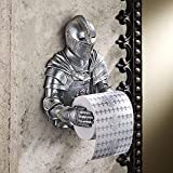 Medieval Knight Funny Toilet Paper Holder,Creative Rome Knight Tissue Holder,Design Toilet Paper Holder,Toilet Paper Holder for Bathroom Kitchen Wall Home Decor (Gothic Decor)