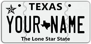 texas bike license plate