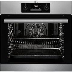 AEG BPB331020M ingebouwde kachel/oven/energie-efficiëntieklasse A+ / 71 liter volume / roestvrij staal / SorroundCook multifunctionele oven / pyrolytische zelfreinigend / MaxiClass met extra grote kookruimte*