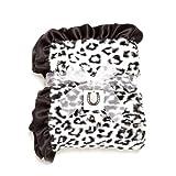 Max Daniel Baby Throw Blanket, Black-White Jaguar