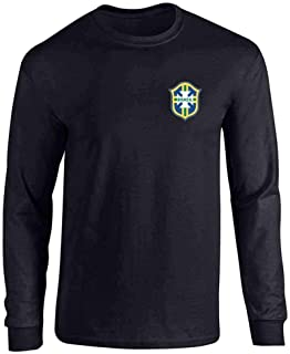 Brazil Futbol Soccer Retro National Team Football Full Long Sleeve Tee T-Shirt