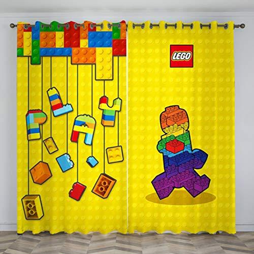 yug Cortina Decoración De Parque De Atracciones Cortina De Puerta Niño Niña Dormitorio Estudio Jardín De Infantes Decoración Moderna Nórdica Dibujos Animados Patrón De Ladrillo Lego