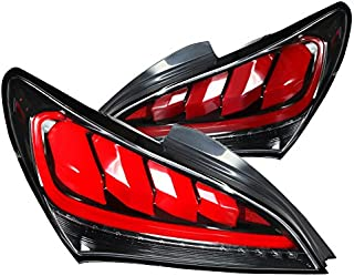For Hyundai Genesis Coupe 2Dr LED Sequential Jet Black Tail Brake Lights Pair