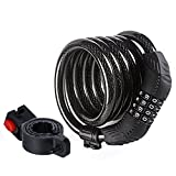 Etronic Bike Lock M8, Cable Lock 6 Feet Long Coiled Security...