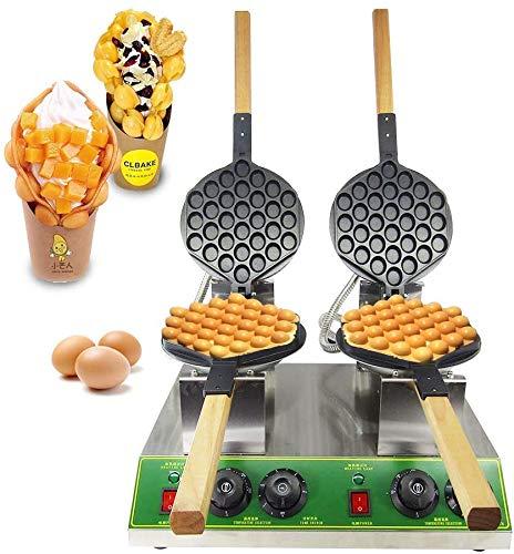 BAOSHISHAN Gofrera Bubble Waffle Gofrera de Huevo al Estilo Hong Kong Doble Cabeza Acero Inoxidable Antiadherente con CE 220 V