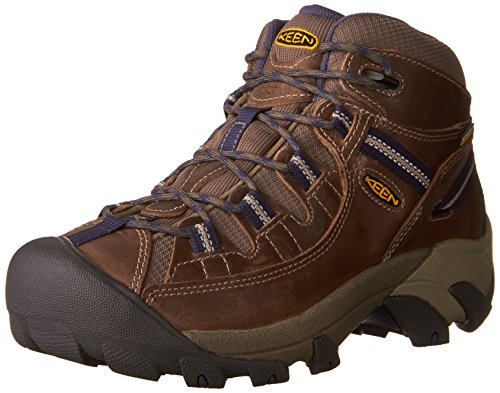 KEEN Women's Targhee II MID WP-W Hiking Boot, goat/crown blue, 9.5 M US